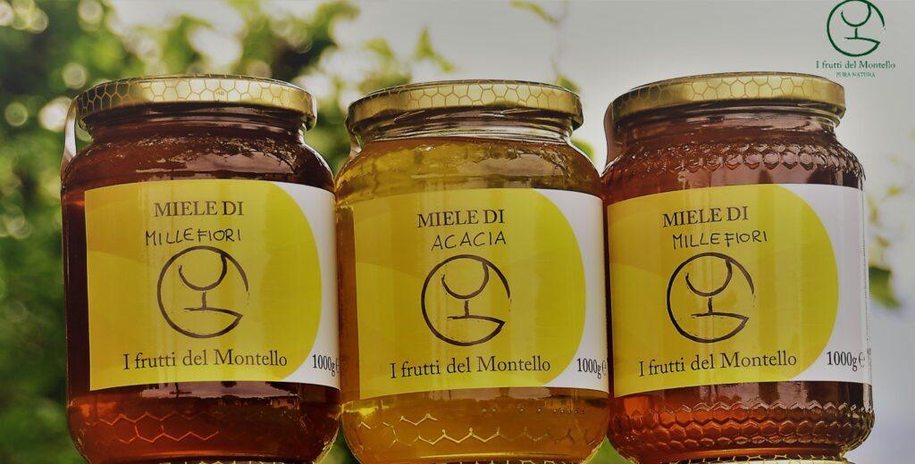miele di acacia, millefiori e castagno